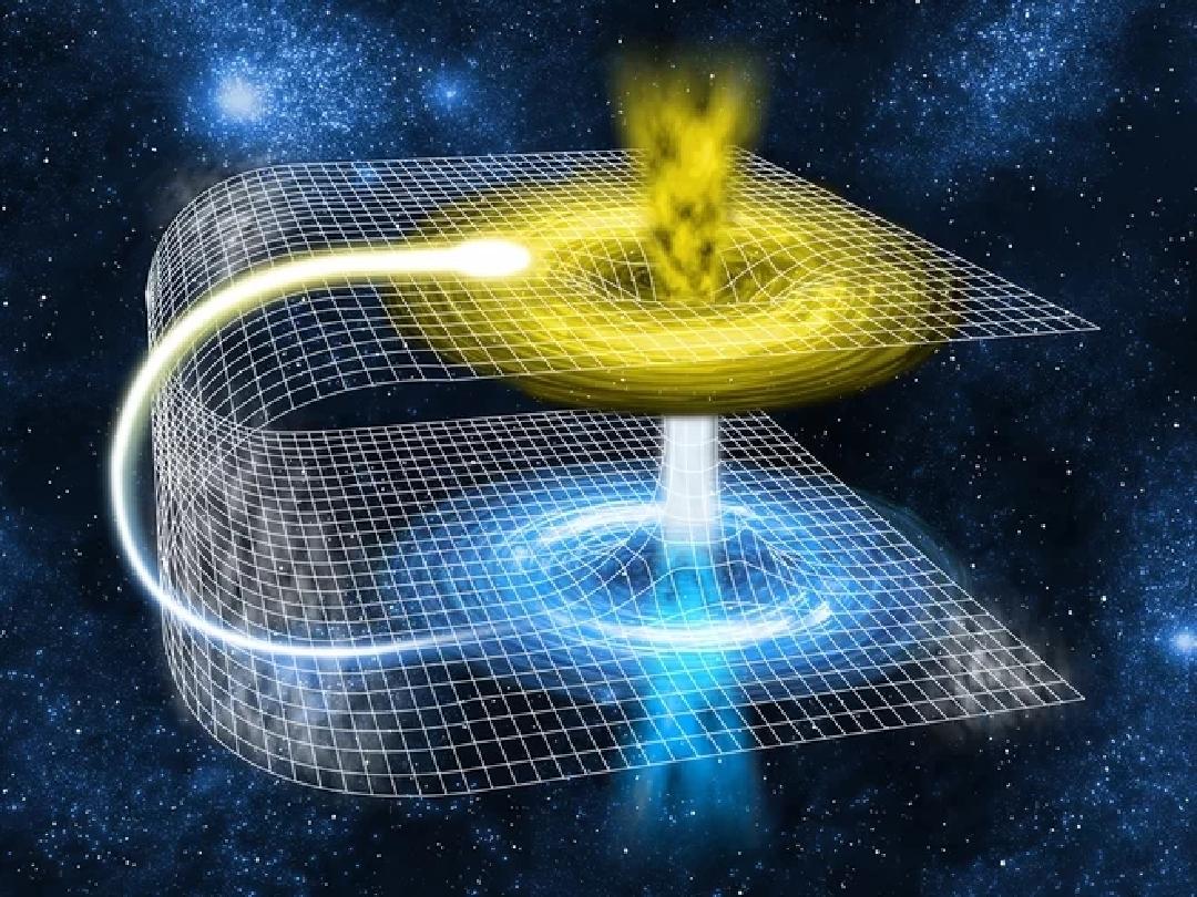 Minh họa về lỗ sâu - lỗi tắt đi xuyên qua không gian và thời gian. (Ảnh qua Gramha)