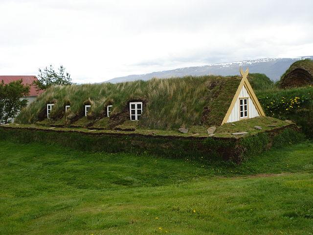 Ngôi nhà cỏ Iceland ở Glaumbær. (Ảnh qua Pinterest)