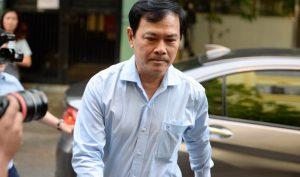 Ông Nguyễn Hữu Linh trốn trong nhà vệ sinh khi tới hầu tòa