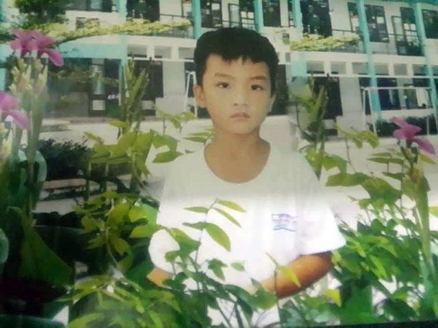 Bé Trần Hưng Quốc trước khi mất tích.