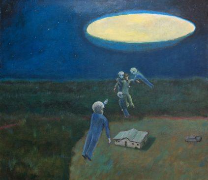 Những người ngoài hành tinh màu xám đã bắt cóc ông David Huggins lúc ông còn nhỏ. (Ảnh qua CE)