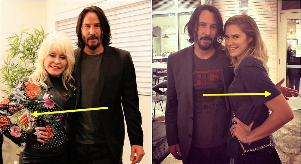 Keanu Reeves thường cố gắng không đụng chạm vào người fan nữ.