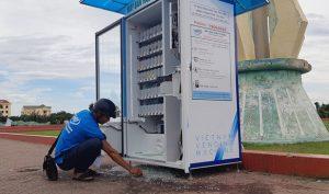 Tuy Hòa: Hàng loạt máy bán hàng tự động bị đập phá, trộm tiền
