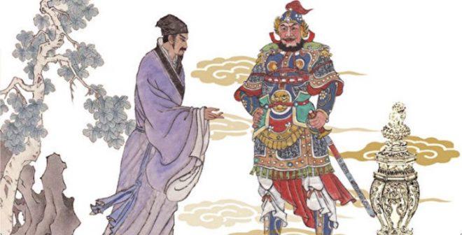 Tướng quân áo giáp vàng đầu thai làm con của vị tú tài thời Minh. 1
