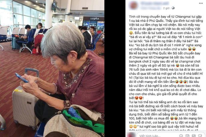 Trốn con cháu, cụ già 76 tuổi du lịch bụi sang Thái Lan cho khỏi phí đời -H2
