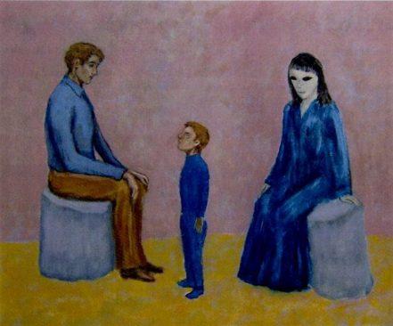Bức tranh này được in trong sách Love In An Alien Purgatory- the art of David Huggins (Tạm dịch: Tình yêu với một người ngoài hành tinh ăn năn hối lỗi - bức tranh của David Huggins).