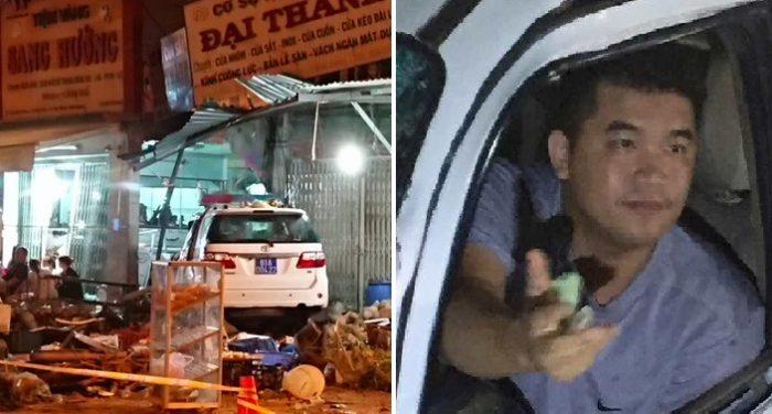 Lái xe say xỉn đâm vào ki ốt, CSGT bình tĩnh cầm tiền xua đuổi người dân.1