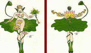 Mẫu thiết kế quốc phục 'chiến binh sen' cho Hoàng Thùy bị chỉ trích dữ dội