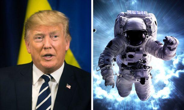 Đang có một trận chiến gay cấn giữa Tổng thống Trump và Chính phủ ngầm trong việc giành quyền kiểm soát các chương trình không gian. (Ảnh qua CE)