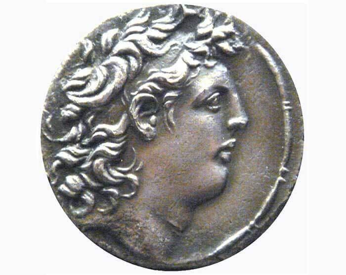 Đồng tiền xu đúc hình vua Tryphon. (Ảnh qua commons.wikimedia.org)