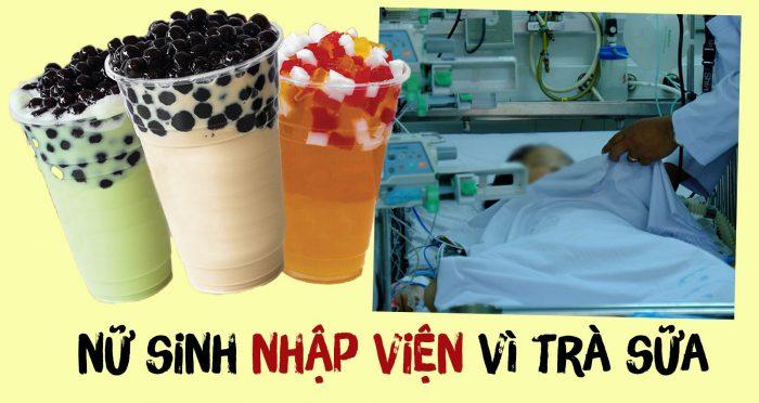 Nữ sinh 14 tuổi nhập viện vì không tiêu hóa hết trân châu trong trà sữa.1