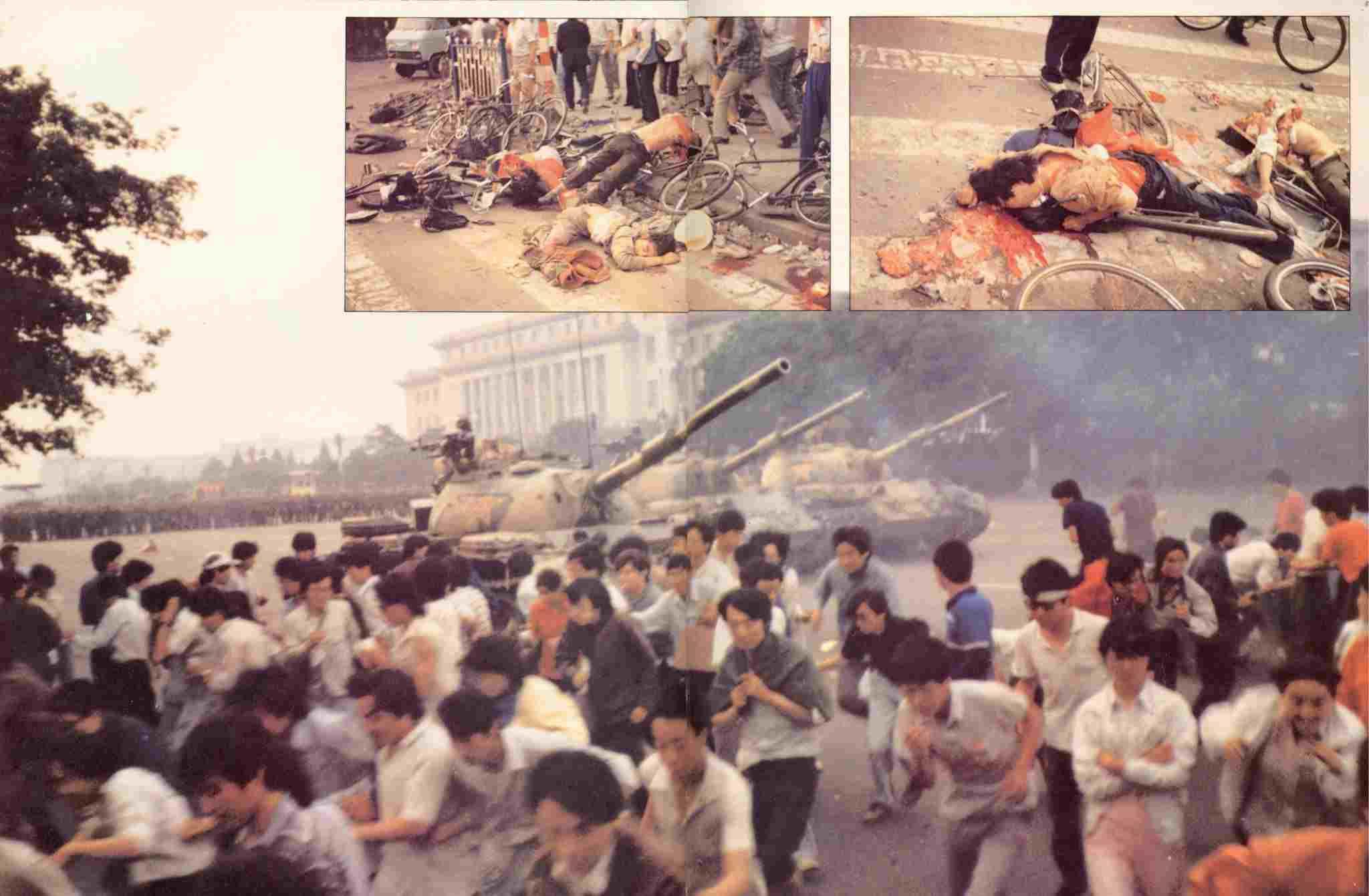 Quân đội Cộng sản Trung Quốc đàn áp đẫm máu người dân Trung Quốc ngay tại Thiên An Môn Bắc Kinh vào ngày 4/6/1989. (Ảnh: internet)