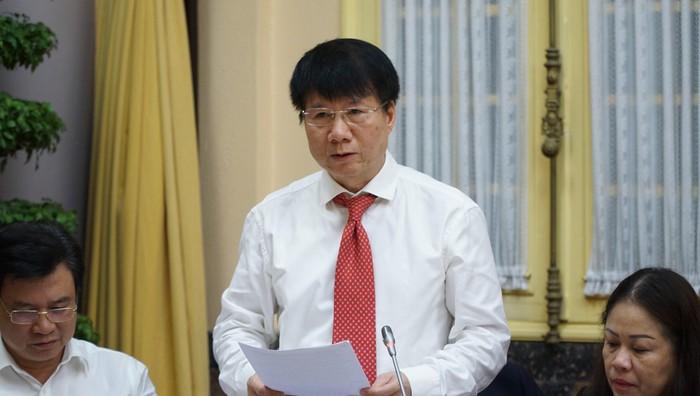 Thứ trưởng Trương Quốc Cường báo cáo một số nội dung Luật Phòng, chống tác hại của rượu, bia.