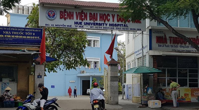 Bệnh viện Đại học Y dược Huế, nơi sản phụ Tr. nhập viện.