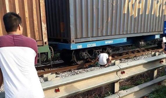Hiện trường vụ tai nạn đường sắt ở huyện Hà Trung (Thanh Hóa) sáng 28/7.