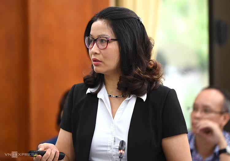 GS Nguyễn Thị Lan báo cáo bước đầu về kết quả nghiên cứu.