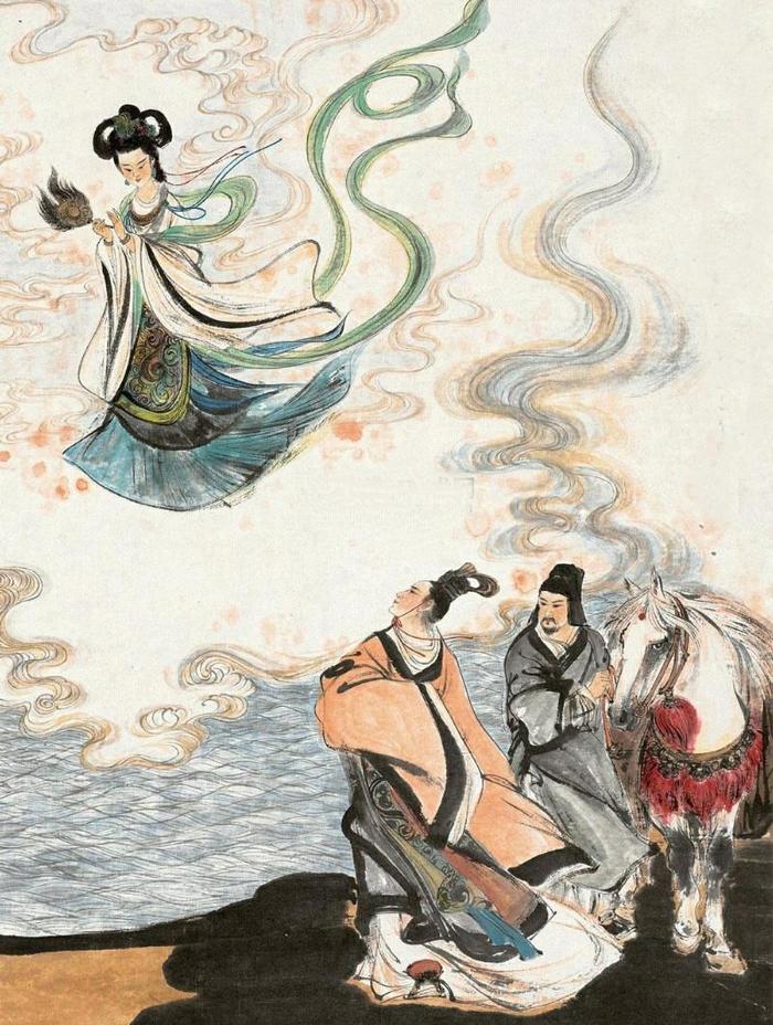 Nữ thần phất chiếc tay áo múa nhảy theo gió, dịu dàng lướt đi như chim bay