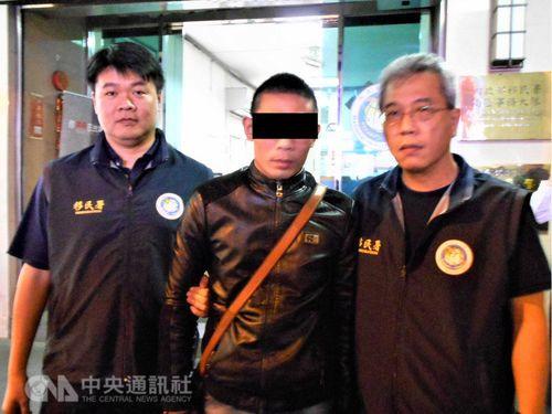 Một trong số 152 nghi phạm bị Cơ quan Di trú Đài Loan bắt giữ.