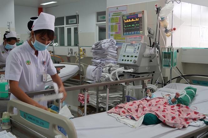 Một bệnh nhân điều trị tại BV Nhi đồng 2