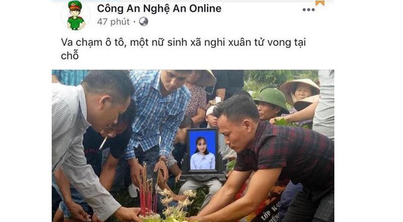 Hình ảnh chị Duyên bị cắt ghép, đưa lên trang Facebook.