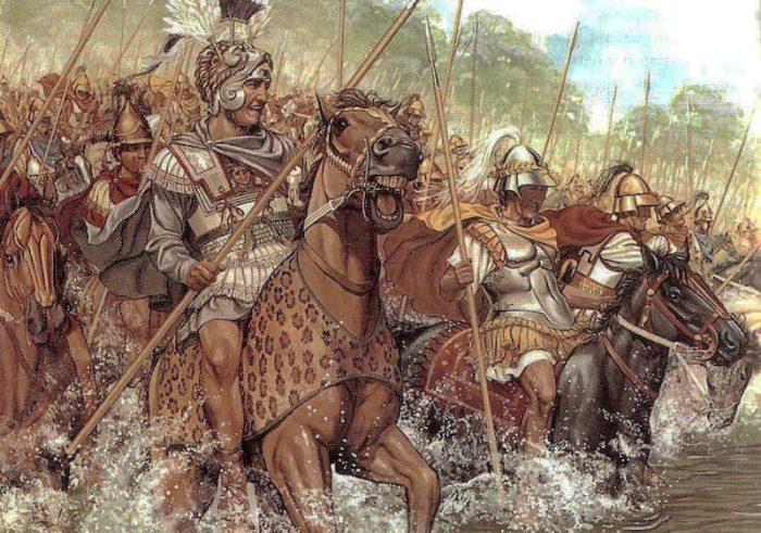 Alexander Đại đế trong trận Chaeronea.