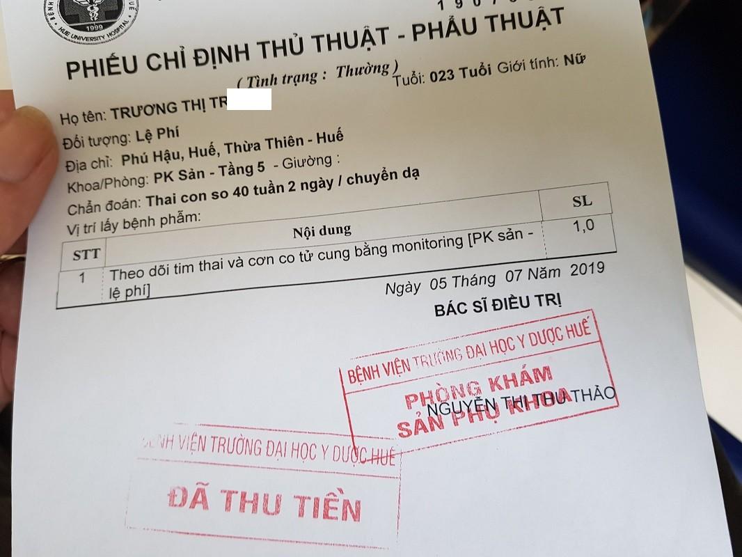 Thai con so đã chuyển dạ, siêu âm nặng 3,6 kg.