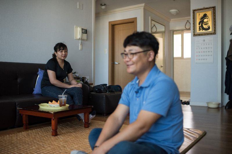 Gia đình một cô dâu Việt Nam lấy chồng Hàn Quốc