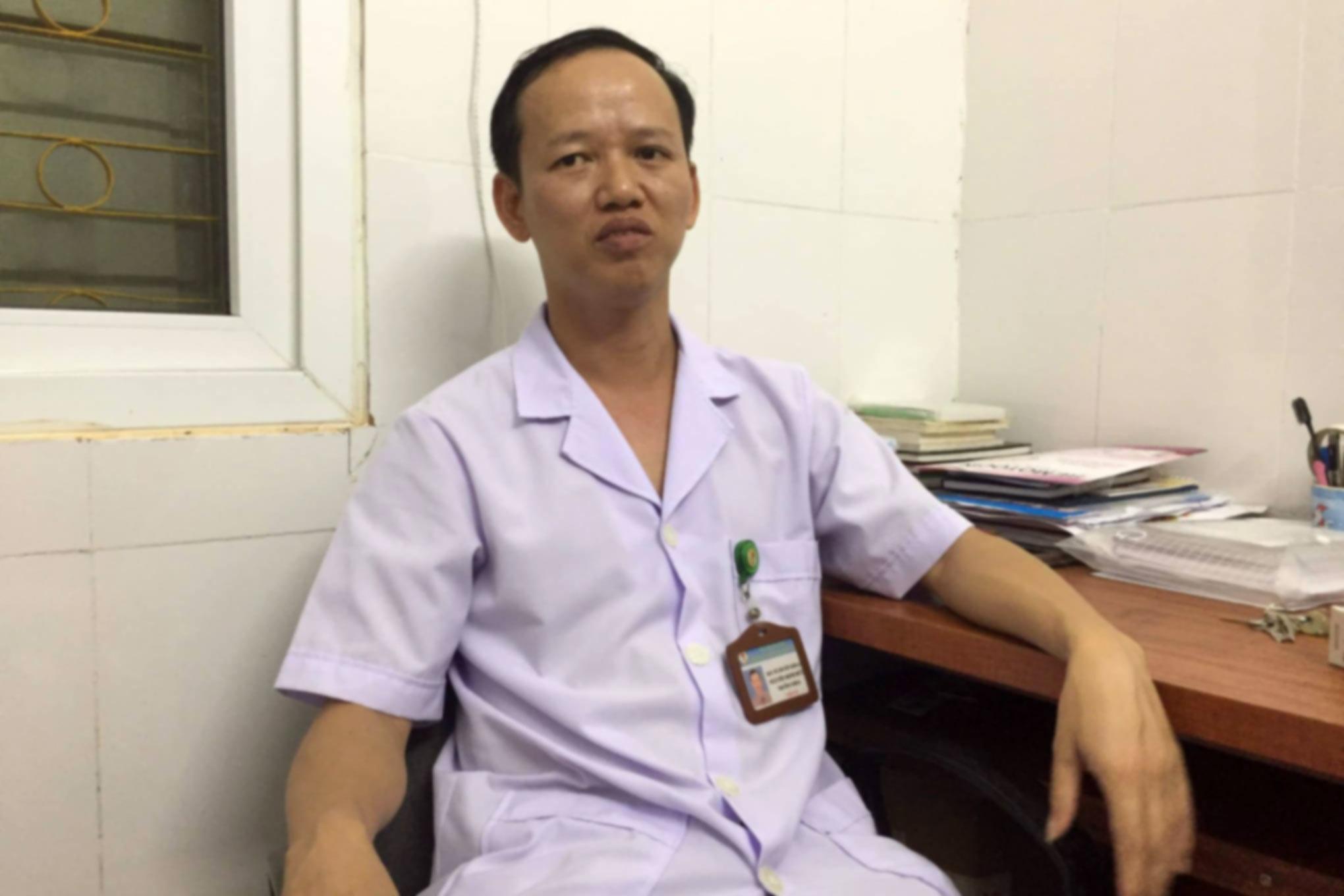 Bác sỹ Nguyễn Minh Đức, Trưởng khoa Sản BV ĐK Đức Thọ.