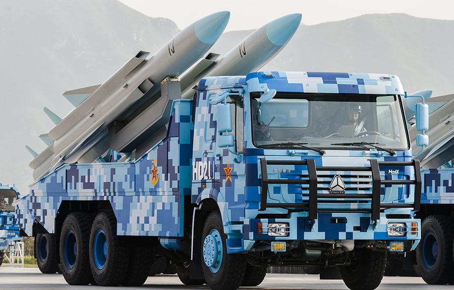 Hệ thống tên lửa hành trình chống hạm YJ-12 của Trung Quốc. (Ảnh qua Sohu)
