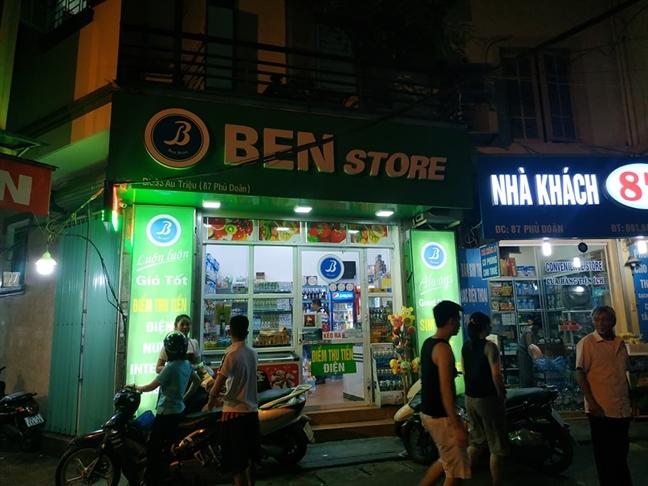 Cửa hàng tạp hóa, nơi xảy ra vụ cướp.