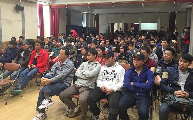 Những lao động cư trú bất hợp pháp tại Hàn Quốc đã hội hương đang được hướng dẫn tìm việc làm