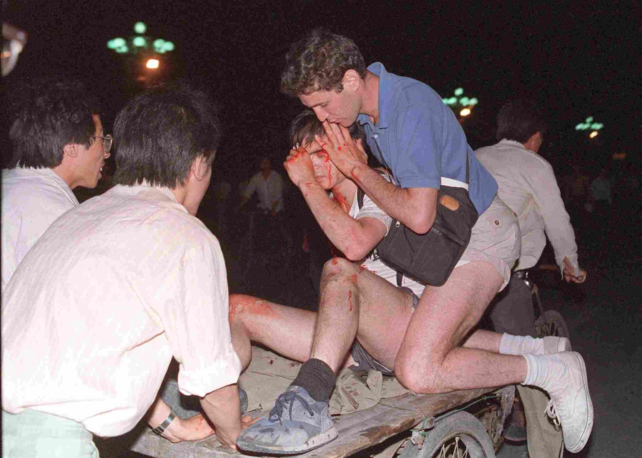 Máu đã đổ trên quảng trường Thiên An Môn 1989.