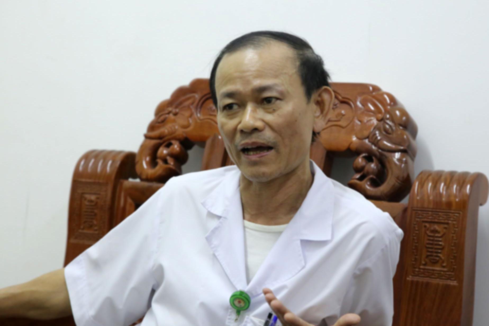 Lãnh đạo Bệnh viện ĐK Đức Thọ, BS Phạm Hồng Cường.