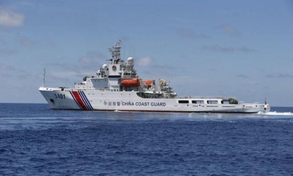 Tàu hải cảnh của Trung Quốc trên Biển Đông.