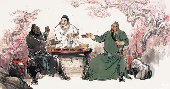 Lưu Bị, Quan Vũ, Trương Phi kết nghĩa đào viên.