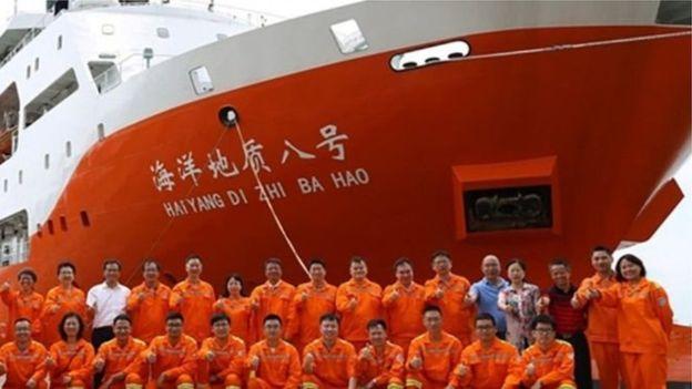 Sự hiện diện của tàu khảo sát của Trung Quốc trên lãnh thổ Biển Đông dẫn đến cuộc đối đầu