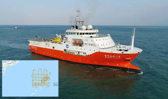 Tàu Hải Dương địa chất 8 của Trung Quốc. (Ảnh qua tuoitre)