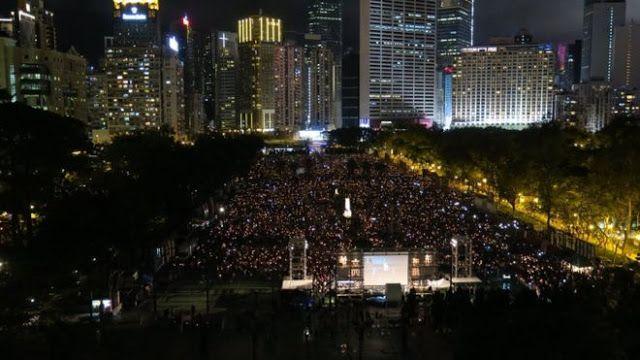 Công viên Victoria, Hong Kong, nơi diễn ra lễ đốt nến kỷ niệm Sự kiện Lục tứ.