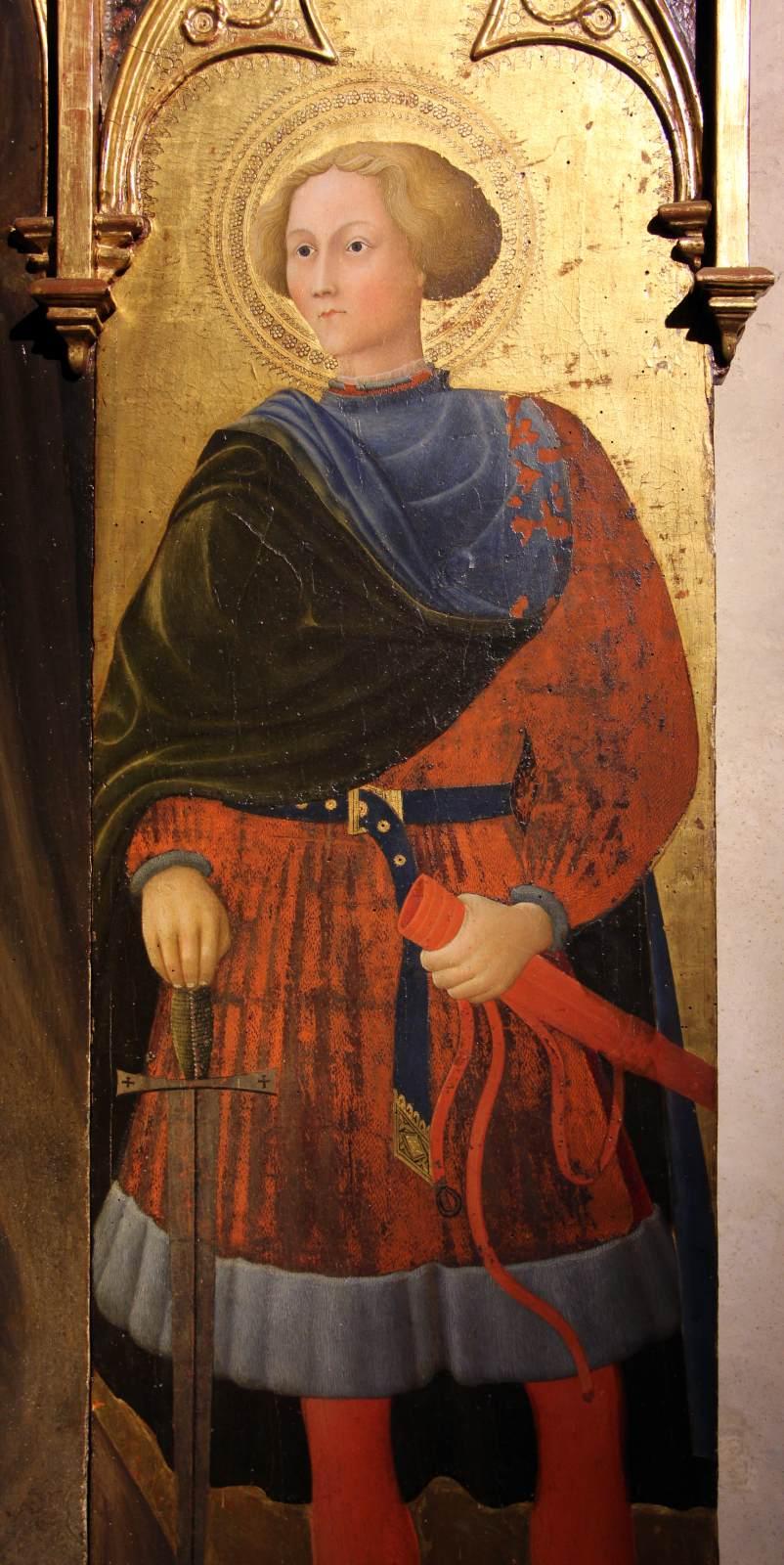 Chân dung Thánh Galgano Guidotti, tương truyền là chủ nhân của thanh kiếm trong đá. (Ảnh: vga.hu)