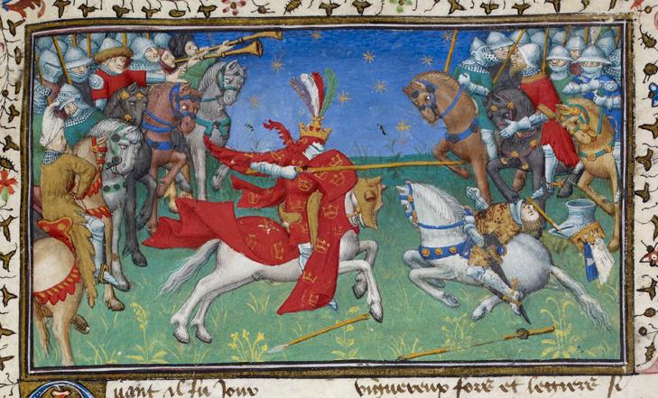 Alexander Đại đế hạ gục vua Porrus của Ấn Độ.