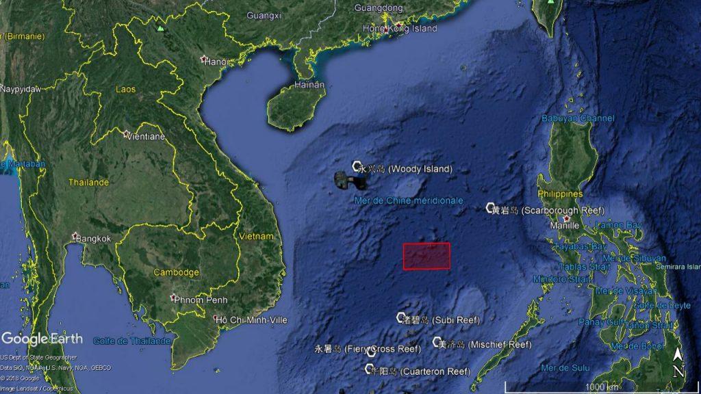 Thông báo được đưa ra để cấm tất cả các phương tiện hàng hải tiếp cận khu vực màu đỏ từ 0 giờ ngày 29/6 đến 24 giờ ngày 3/7 (giờ Bắc Kinh). (Ảnh: East Pendulum)