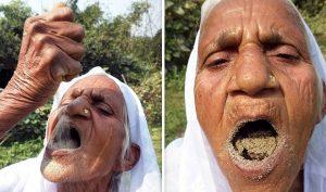 Cụ bà 80 tuổi ăn cát thay cơm trong suốt 6 thập kỷ