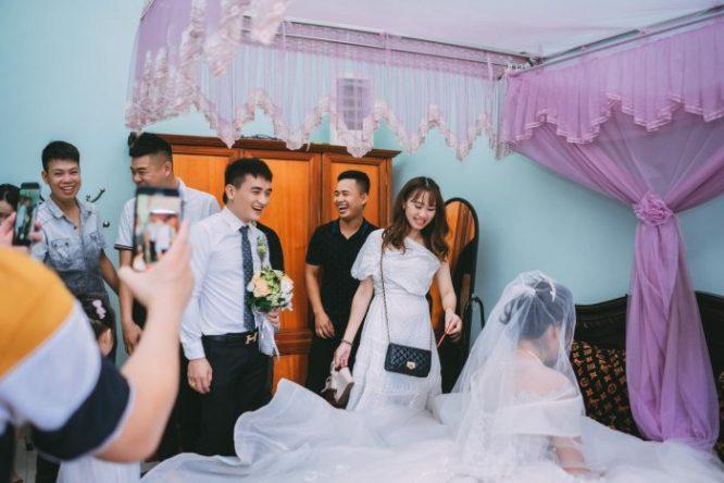 Cuối cùng chú rể cũng rước dâu thành công.