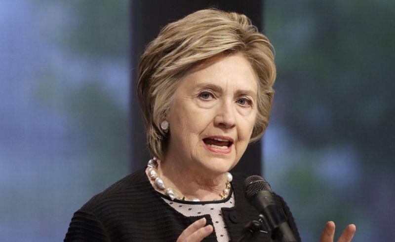 Hillary Clinton trong buổi phát biểu tại Baltimore vào ngày 5/6/2017. bê bối email