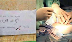 Đến Trung Quốc khám bệnh, sinh viên nước ngoài được y tá đưa cho mảnh giấy