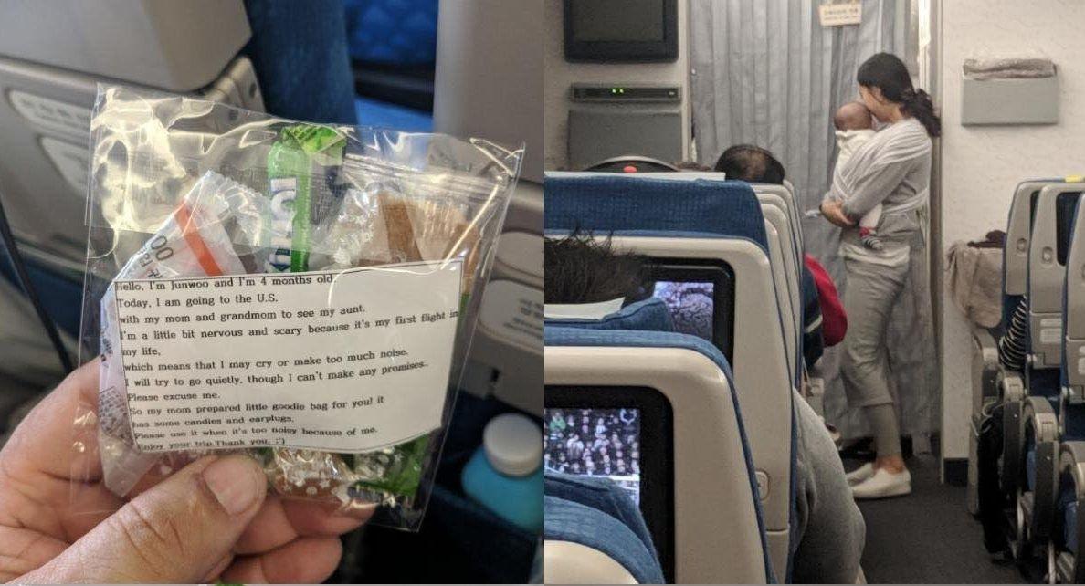 Bà mẹ trẻ người Hàn Quốc này đã có một hành động hết sức lịch sự khiến cho mọi hành khách trên chuyến bay đều bất ngờ.