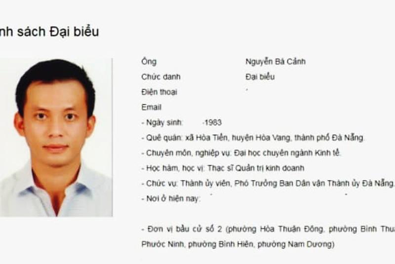 Tháng 5/2016, ông Cảnh trúng cử Đại biểu HĐND TP nhiệm kỳ 2016-2021.