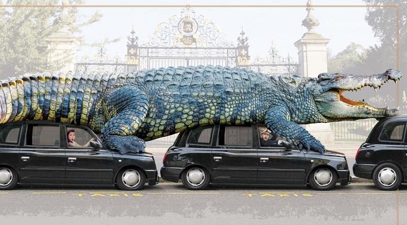 Hình minh họa cá sấu khổng lồ thời tiền sử. (Ảnh:Guinness World Records)