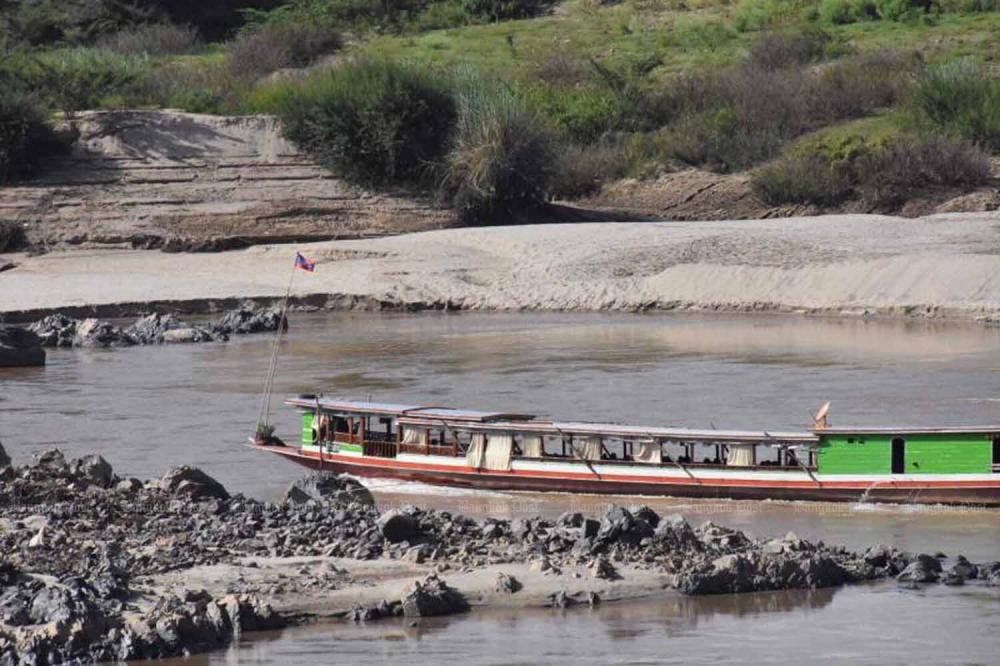 Sông Mê Kông ở Chiang Rai hôm 20/7.