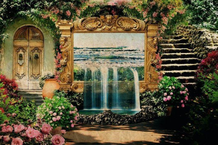 Ảnh minh họa khu vườn Bakavali trong truyện cổ Ba Tư mà Alexander Đại đế đã đến thăm.